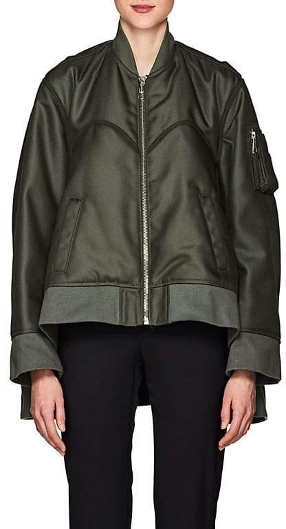 Women's Tech-Canvas Four-Sleeve Bomber Jacket