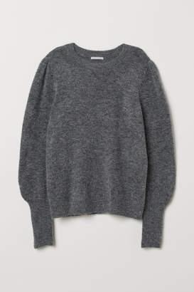 H&M Knit Wool-blend Sweater - Gray