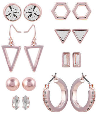 GUESS Holographic Dreams Eight-Pack Crystal Earrings Set