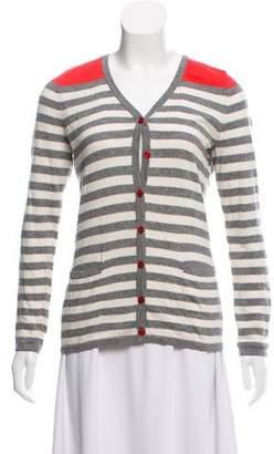 Basler Striped V-Neck Cardigan