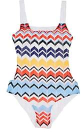 Missoni Kids' Zigzag-Knit One-Piece Swimsuit - Blue