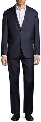 Saks Fifth Avenue Trim-Fit Striped Wool Suit