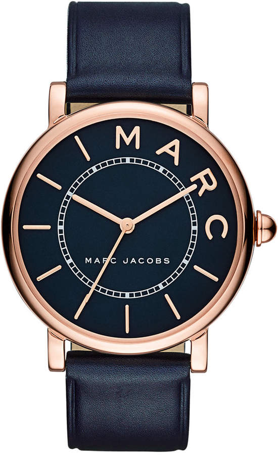 Marc By Marc JacobsMarc by Marc Jacobs Women's Roxy Navy Leather Strap Watch 36mm MJ1534