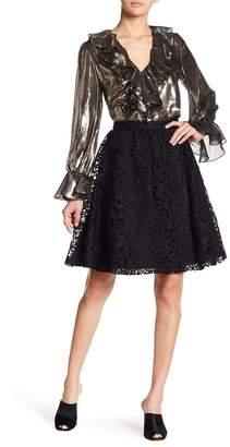 Alice + Olivia Earla Lace Flare Skirt