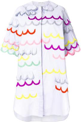 Tsumori Chisato contrast scalloped trim dress