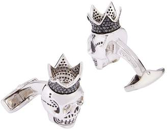 Tateossian King Skull Diamond Cufflinks