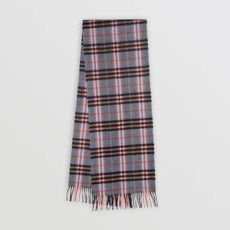 Burberry Check Cashmere Scarf, Blue