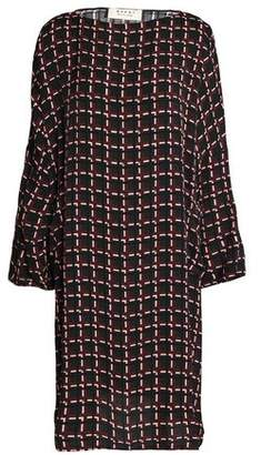 Marni Oversized Checked Crepe Dress