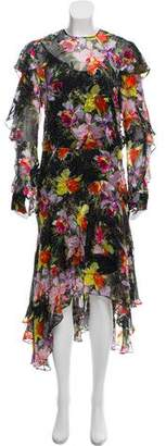 Preen by Thornton Bregazzi Floral Print Silk Dress