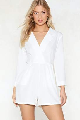 Nasty Gal Coudn't Give a Tux Romper