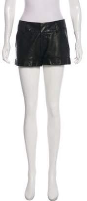 Alice + Olivia Leather Mini Shorts