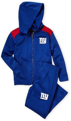 Majestic Boys 4-7) Two-Piece New York Giants Fleece Zip Hoodie & Pant Set