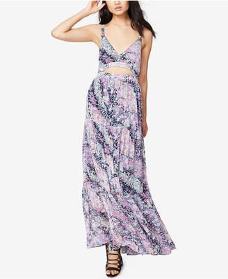 Rachel Roy Floral-Print Cutout Maxi Dress