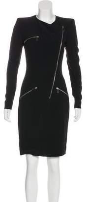 Alexander McQueen Zip-Accented Knee-Length Dress