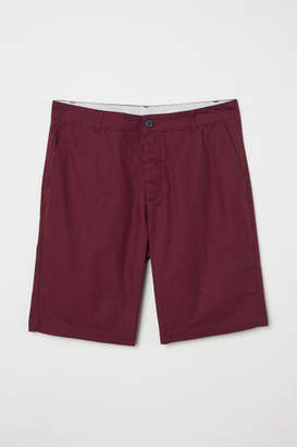 H&M Knee-length Cotton Shorts - Red