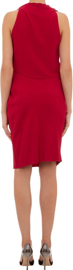 Lanvin Gathered-Side Sleeveless Dress