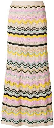 M Missoni knitted midi skirt