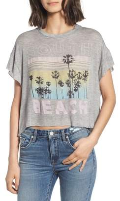 South Beach Project Social T Boxy Crop Tee