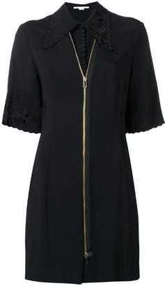 Stella McCartney zip front mini dress