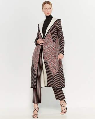 Missoni Hooded Wool-Blend Longline Coat