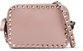 Valentino Garavani The Rockstud Small Leather Shoulder Bag - Blush