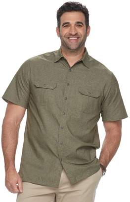 Croft & Barrow Big & Tall Regular-Fit Outdoor Quick-Dry Button-Down Shirt
