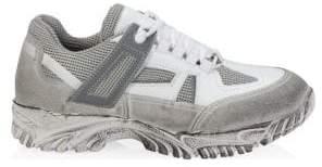 Maison Margiela Security Metallic Leather Sneakers