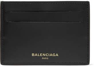 Balenciaga Card Holder Embossed Logo Black