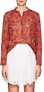 Etoile Isabel Marant Women's Floral Cotton Voile Blouse - Red