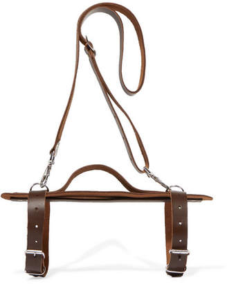 The Beach People Harness Leather Towel Carrier - Brown