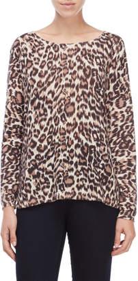 Gerard Darel Beige Leopard Print Top