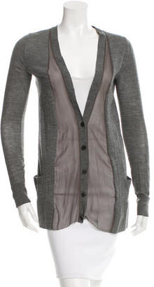 Vera Wang Wool Silk-Accented Cardigan $55 thestylecure.com