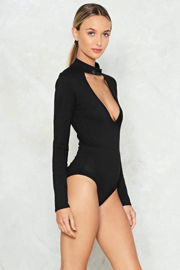 nastygal Up to Your Neck Choker Bodysuit