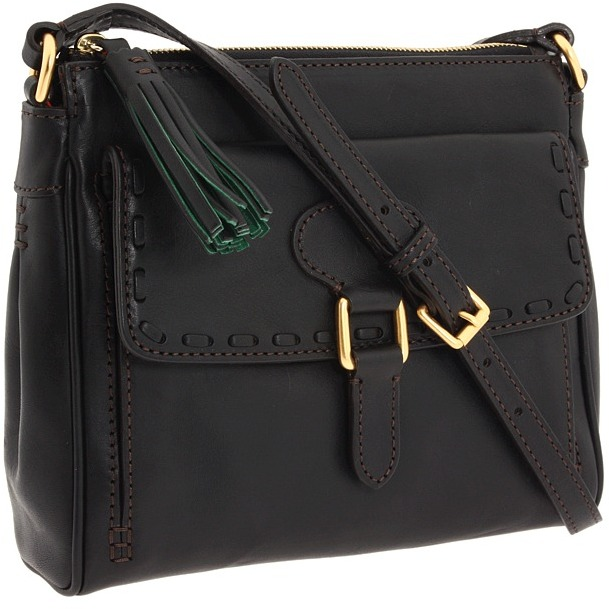 Dooney & Bourke - Florentine Pocket Crossbody (Black/Black Trim) - Bags and Luggage