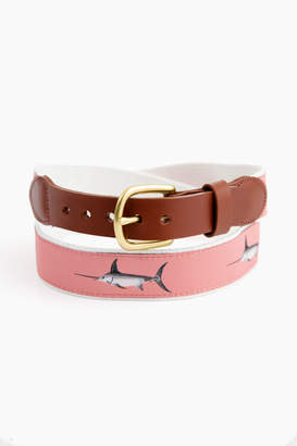 Sword Fish Leather Man LTD. Mill Pink Swordfish Belt