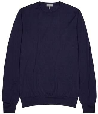 Lanvin Dark Blue Fine-knit Wool Jumper