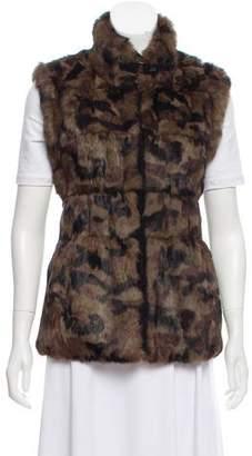 Jocelyn Fur-Trimmed Reversible Vest