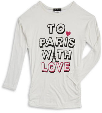 Miss Popular Girls 7-16 To Paris With Love Top $22 thestylecure.com