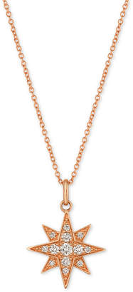 LeVian Le Vian Strawberry & Nude Diamond Star Pendant Necklace (1/4 ct. t.w.) in 14k Gold or Rose Gold