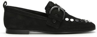 Kennel + Schmenger Kennel & Schmenger Kellett Black Suede Studded Loafers