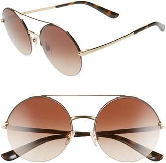 Dolce & Gabbana 54mm Gradient Round Sunglasses
