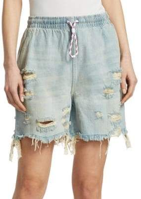 Alexander Wang Drawstring Denim Shorts