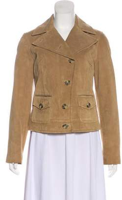 Max Mara Weekend Leather Button-Up Jacket