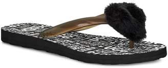 UGG Simi Fluff Manifesto Flip Flop with Genuine Shearling Trim