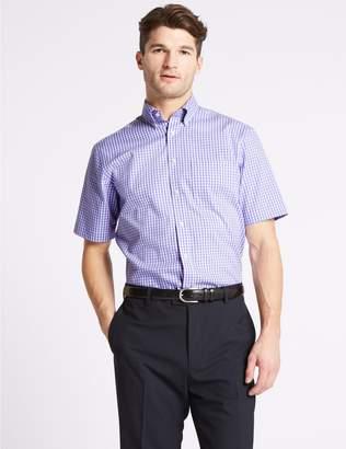 Marks and Spencer Short Sleeve Regular Fit Oxford Shirt