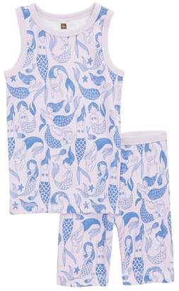 Tea Collection Mermaid Fitted Two-Piece Pajamas