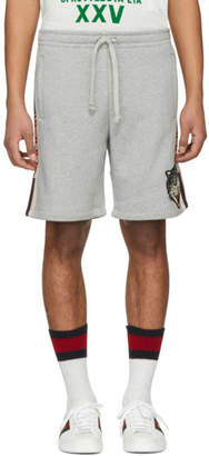 Gucci Grey Logo Band Shorts