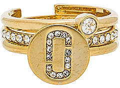 Marc Jacobs Pave Ring Set