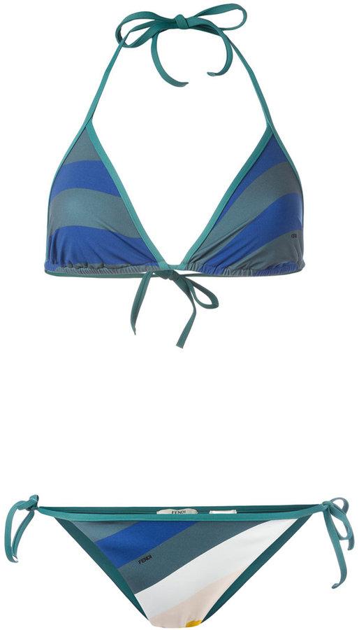 Fendi wave print bikini set