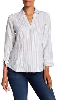 Foxcroft Taylor Linen Stripe Blouse